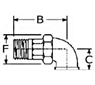 Malleable Iron Male Female Union Elbow 90°