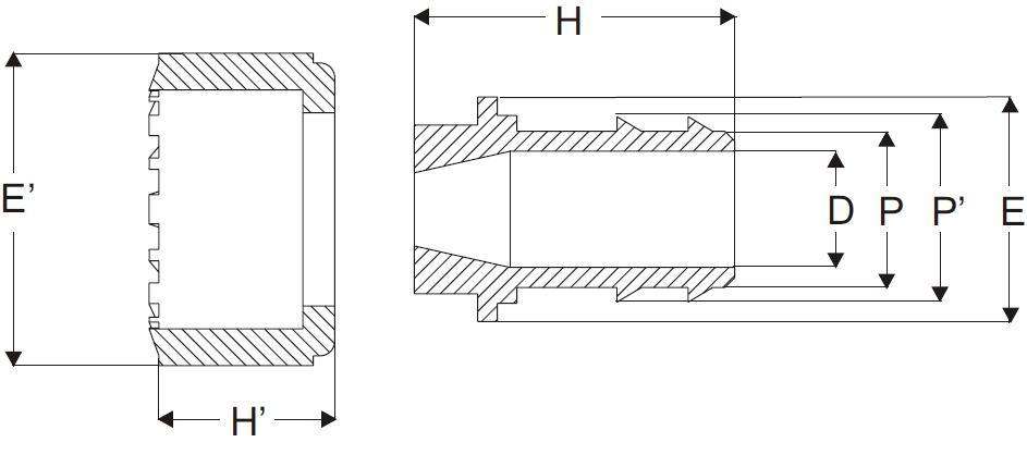 Polypropylene Hose Tail Nut Connection