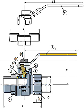 albion gas ball valve art45p