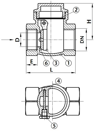 Swing Check Valve further Ball Valve Dimensions moreover TM 9 2320 366 34 4 159 as well Drawing Dim Weight Of Api 600 Gate Valves as well Din Lift Check Valve. on check valve dimensions