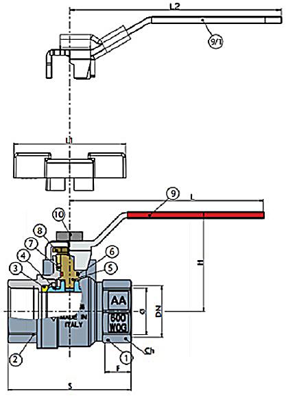 Art 45 NPT ball valves