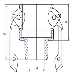 PP Type B Lever Coupling M Thread