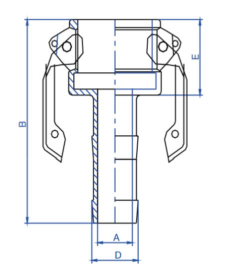 SS Type C Hose Tail Lever Coupling