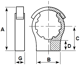 DP cobra pipe clip diagram