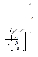 dp pvcc stub flange plain diagram