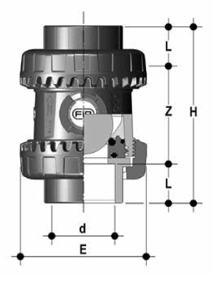 dp pvcc sx easyfit ball check valve epdm diagram diagram