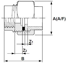 dp pvcc union plain brass female bsp threaded diagram