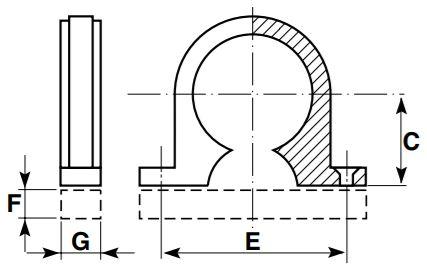 DP saddle clip diagram