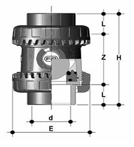 dp pvcc sx easyfit ball check valve epdm diagram diagram