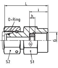 Eaton Female Gauge Coupling Adjustable BSPP S Series