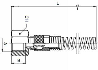 KM-BQF-Straight-Female-Adaptor