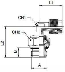 KM-BQF-Swivel-Male-Studs-Elbow-BSPP