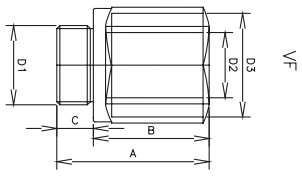 male x female check valve bspp