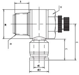 manual flow control elbow uni-directional metric