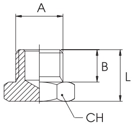 km-npba-blanking-plugs-metric-bspp-diagram