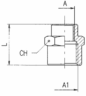 km npba female sockets unequal bspp metric diagram