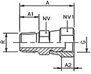 km-npba-swivel-adaptor-bspp-diagram