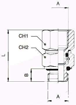 km-npba-swivel-connectors-bspp-diagram