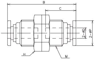 bulkhead tube x tube 16bar