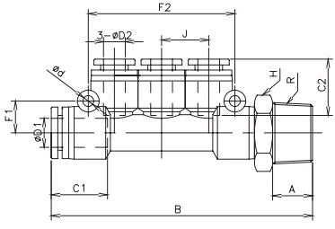 distribution manifold bspp 16 bar