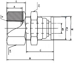 female bulkhead connector bspp 16 bar