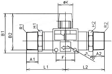 manual shut off valve bspt x bspt 16bar