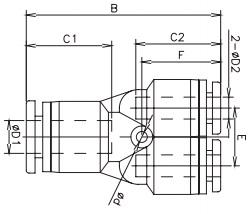 unequal y tube x tube 16bar