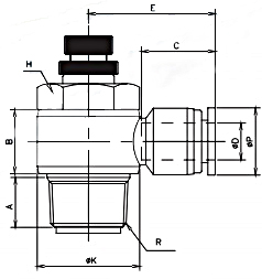 speed control valve tube x metric x bspt 16bar