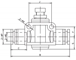 speed control valve tube x tube 16bar