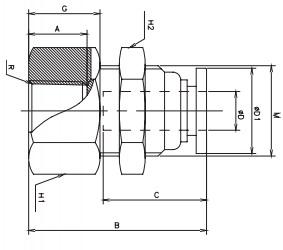female bulkhead connectors bspp