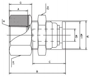 female bulkhead connectors metric x npt