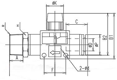 manual flow control valve tube x npt