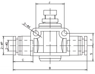 manual flow controller uni-directional