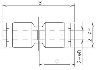 straight tube x tube