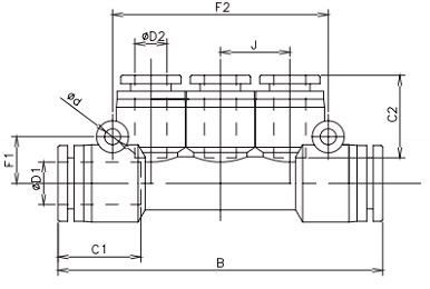 reducing manifold tube x tube