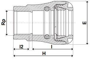 Copper pushfit female adaptor diagram