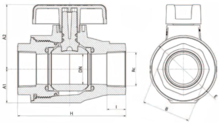 mains stop valve