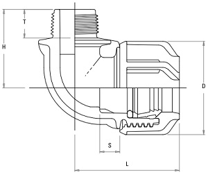 Compression Fitting - Elbow Male