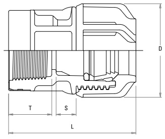 Compression Fitting - Female Adaptor