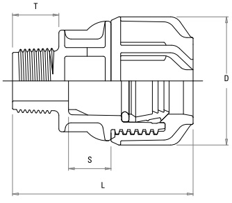 Compression Fitting - Male Adaptor
