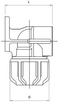 Compression Fitting - Wall Plate Elbow