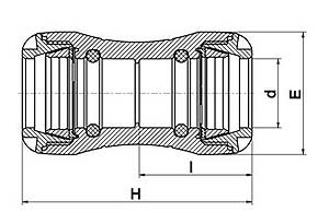 MDPE pushfit coupling diagram