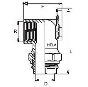 plasson metal wall plate elbow diagram