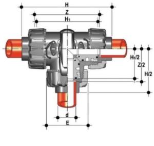 dp 3 way ball valve L port diagram
