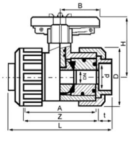 PPh ball valve plain diagram