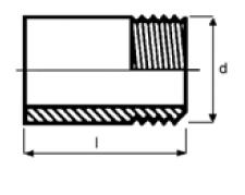 PPh barrel nipple threaded diagram