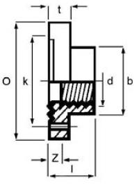 PPh full face flange threaded diagram