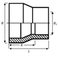 PPh reducing bush spigot x socket diagram
