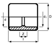 PPh socket metric x imperial diagram