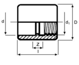 PPh socket plain bsp imperial diagram